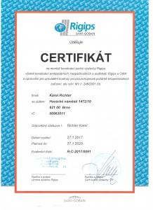 Certifikát Rigips