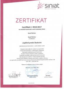 Certifikace SINIAT